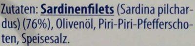 Sardinen Piri-Piri - Ingredients - de