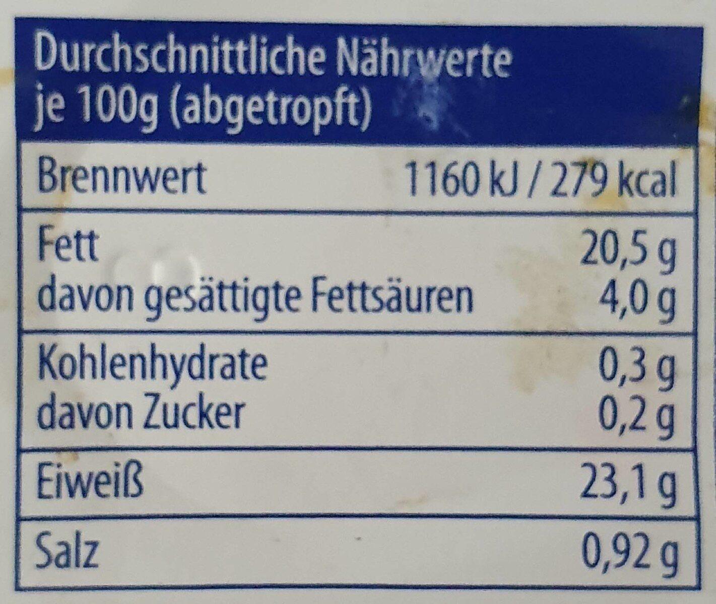 Sardinen Piri-Piri - Nutrition facts - de