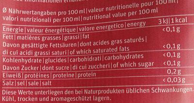 Café Pino - Nutrition facts