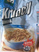 Crunchy Clasico 600 G Bio - Nutrition facts
