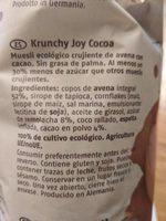 Krunchy joy cocoa - Ingredients - es