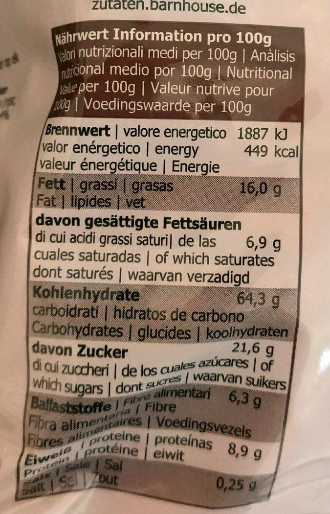 Mr. Reen's Krunchy, Schoko - Informations nutritionnelles