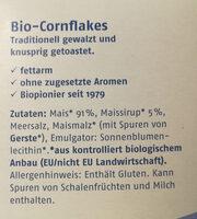 Barnhouse Cornflakes, 375 GR Packung - Ingredients - de