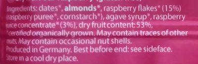 Barre à la framboise - Ingredients