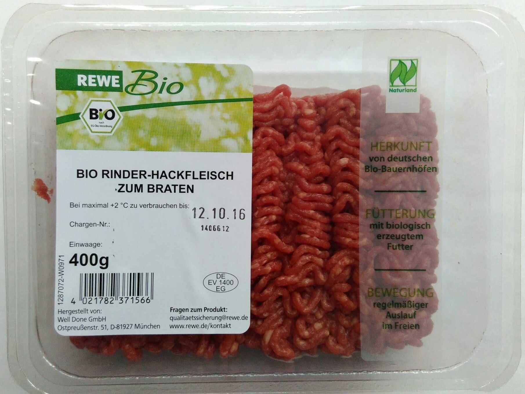 Bio Rinder-Hackfleisch zum Braten - Product - de