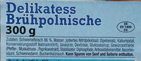 Delikatess Brühpolnische - Zutaten - de