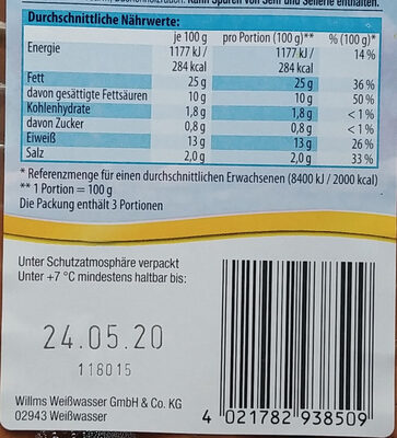 Delikatess Brühpolnische - Nährwertangaben - de