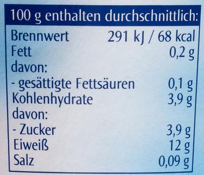 Mager Quark - Voedingswaarden - de