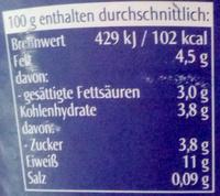 Speise Quark 20% Fett - Voedingswaarden - de
