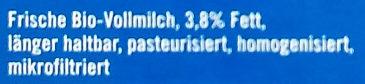frische Vollmilch - Ingredients