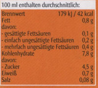 Hafer drink natur - Nutrition facts