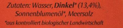 Dinkel drink - Natur - Ingrédients - de