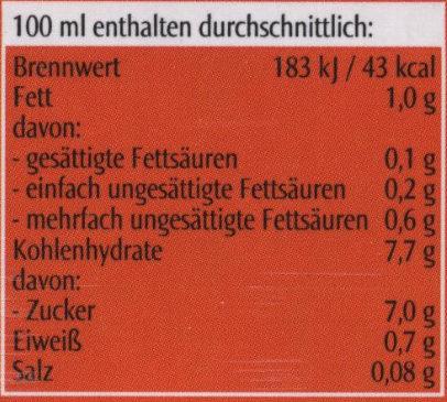 Dinkel drink - Natur - Informations nutritionnelles - de