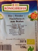 Rinderhackfleisch Bio - Produit - de