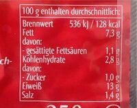 Tofu Paprika - Valori nutrizionali - de