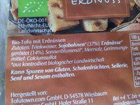 Tofu Erdnuss - Zutaten - de