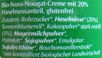 Nuss-Nougat Creme - Ingredients - de