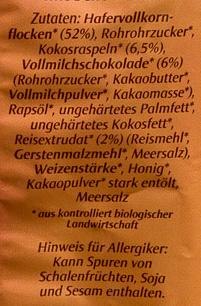 Crunchy schoko - Ingredienti - de