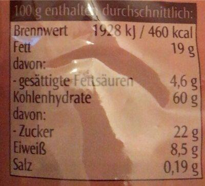 Crunchy schoko - Valori nutrizionali - de
