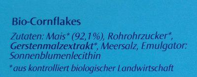 Cornflakes, Dennree - Ingrédients - fr