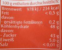 - Informations nutritionnelles - de