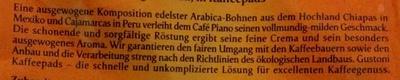 Café Piano - Ingrediënten - de