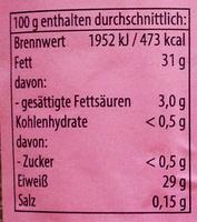 Leinsaat geschrotet - Informations nutritionnelles