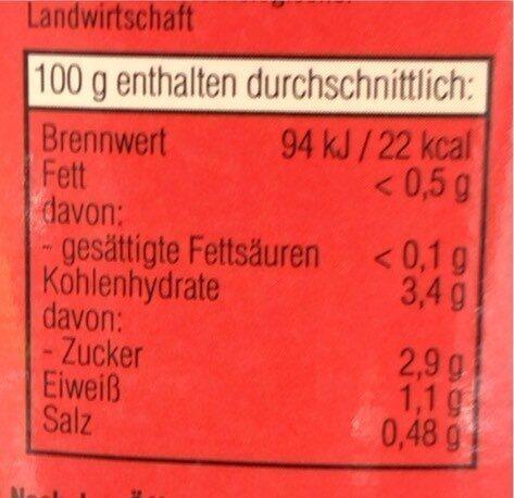 Passierte tomaten - Nutrition facts - de
