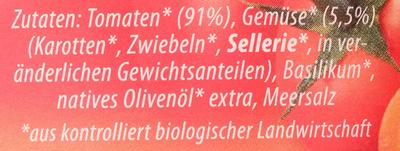 Sugo Famiglia Mild - Ingredients