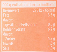 Sugo Famiglia Mild - Informations nutritionnelles