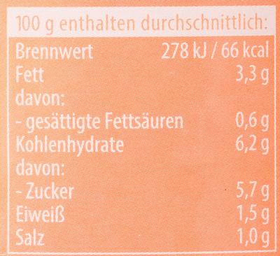Sugo Famiglia Mild - Nutrition facts