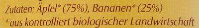Bio-Apfel-Bananen-Mark - Ingredients