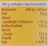 Bio-Apfel-Bananen-Mark - Nutrition facts