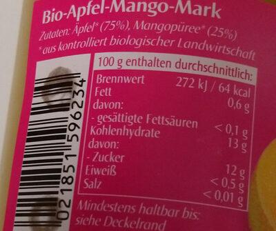 Apfel-Mango Mark - Nutrition facts - en