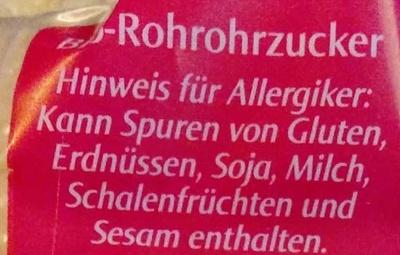 Rohrohr Zucker - Ingrédients