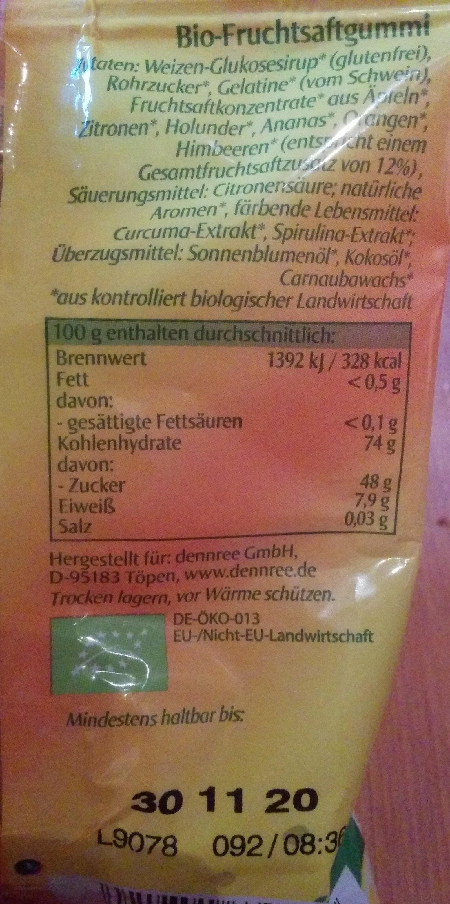 Gummi Bärchen - Ingredients
