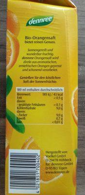 Orangensaft - Nutrition facts