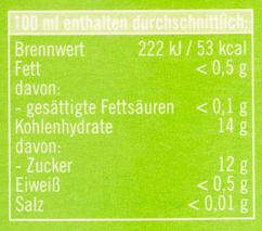 apfelsaft naturtrüb - Nutrition facts - de