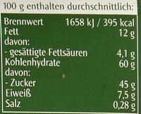 Oblaten-Lebkuchen zweifach sortiert - Nutrition facts