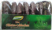 Feine Oblaten-Lebkuchen mit Schokoladenglasur - Produkt