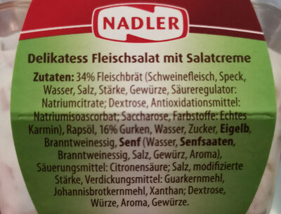 Delikatess Fleischsalat - Ingredients