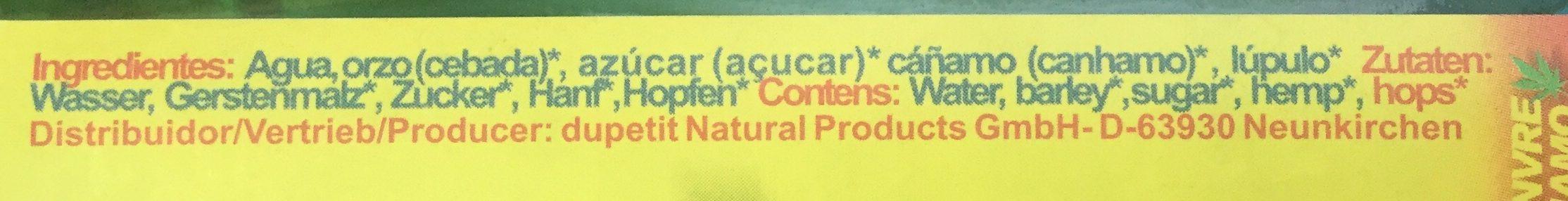 Der Hanftrunk - Ingredients - en