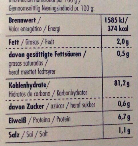 Copos de arroz - Nutrition facts - nl