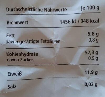 Basis Müsli ohne Sultaninen - Informations nutritionnelles