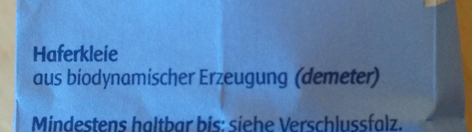 Haferkleie ( Bio ) Spielberger Mühle - Ingredients - de