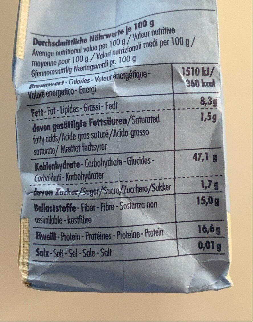 Haferkleie ( Bio ) Spielberger Mühle - Nutrition facts - de