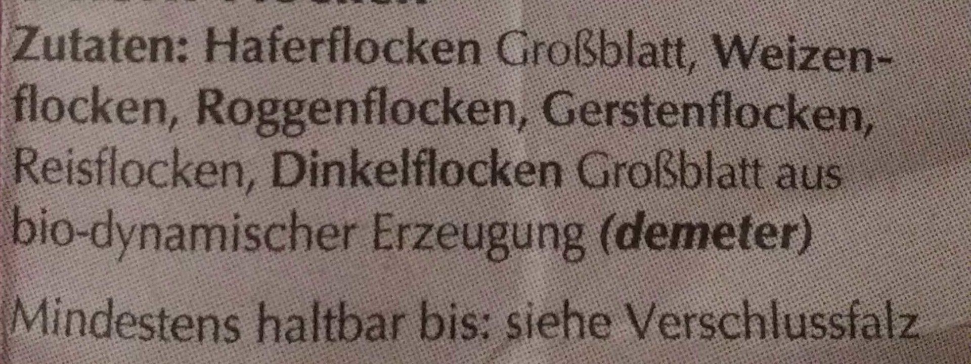 6-Korn-Flocken - Ingrédients - de