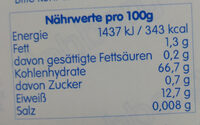 Weizenmehl Type 812 - Nutrition facts