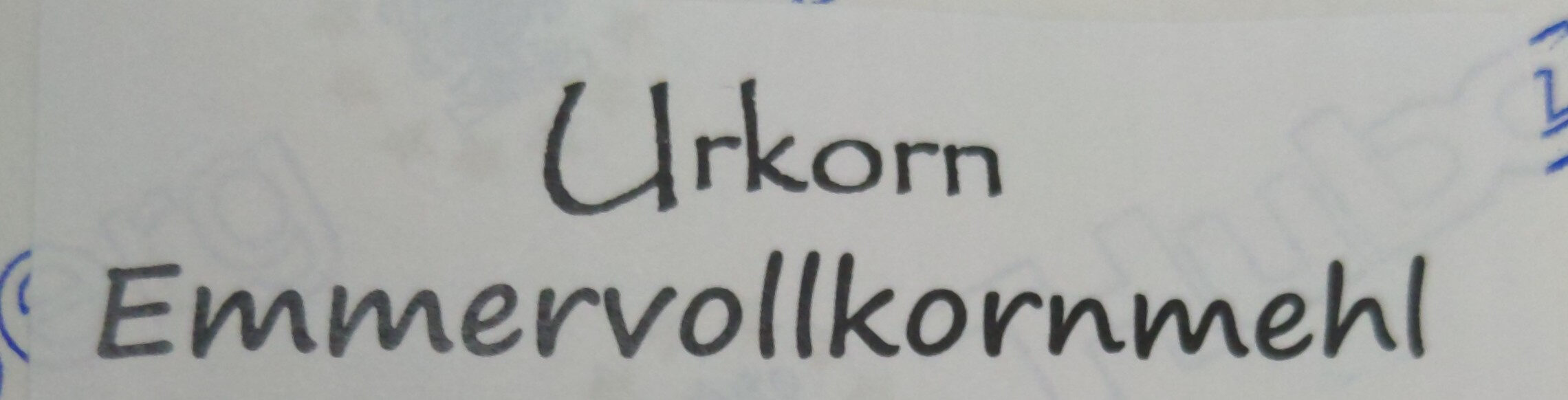 urkorn emmervollkornmehl - Ingredients - en