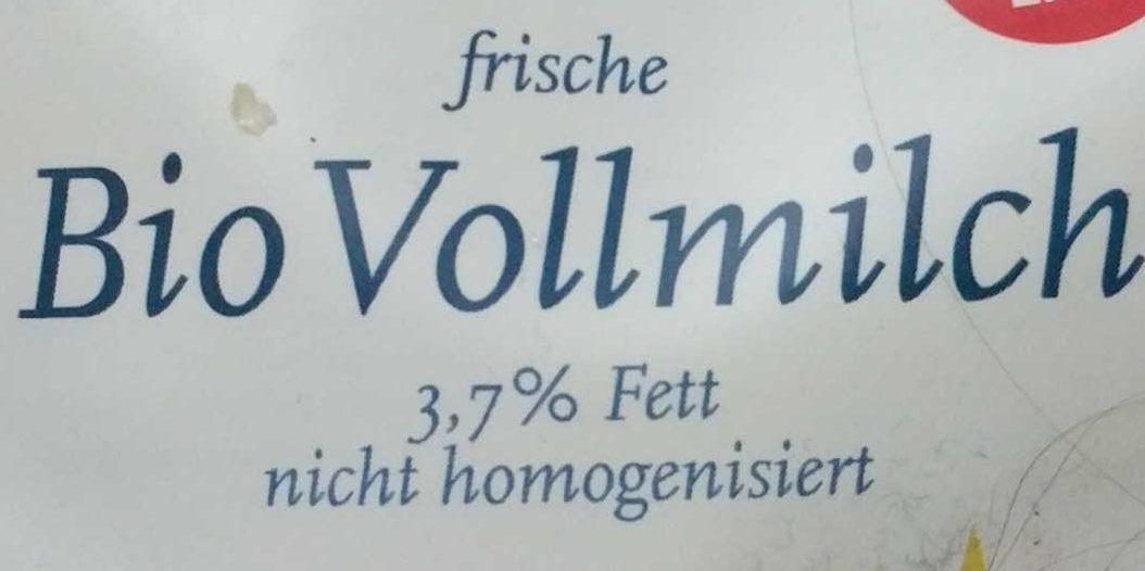 frische Bio Vollmilch - Zutaten - de